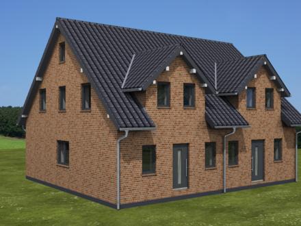 Neubau-Doppelhaushälfte in schöner Lage von Aurich-Extum