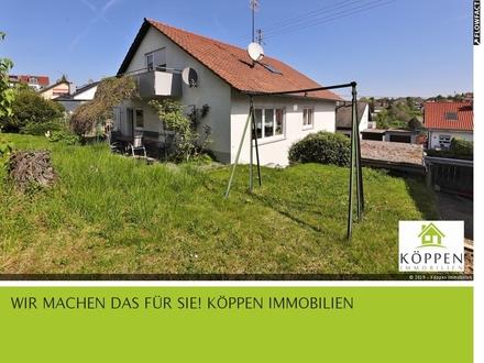 Gelegenheit - Freist. 2-Fam.-Haus - 217 m² Wfl. - 572 m² Grundstück - Leutenbach - sofort frei