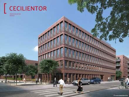 SCHÖNER ARBEITEN IN DER ÜBERSEESTADT - die neuen Büroflächen im Cecilientor Gebäude 2