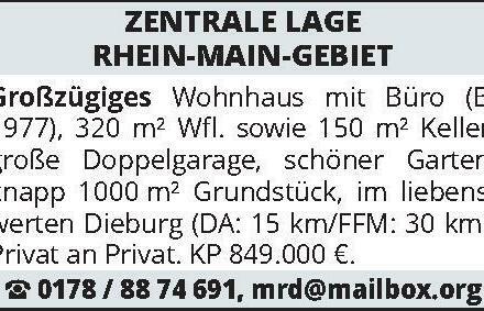ZENTRALE LAGE RHEIN-MAIN-