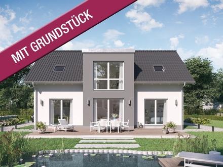 Modernes Familienhaus mit Panoramagauben (inkl. Grundstück & KfW55)