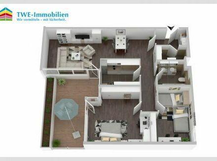 Attraktive Wohnung in gepflegter Anlage mit großem Balkon