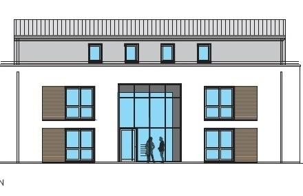 Nähe Schlosspark! Obergeschosswohnung mit Balkon, Aufzug, KfW-55-Haus