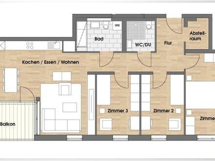 4 Zimmer, 2 Bäder und Südbalkon! ++Robert Decker Immobilien++