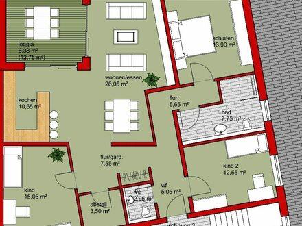 Neubau 4,5 Zi.-EG-Wohnung in Bad Rappenau - Bonfeld mit eigenem Garten