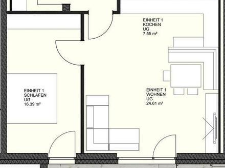Erstbezug! Top 2-Zimmer-Wohnung mit Terrasse, Garten und Carport!