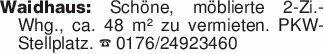 Waidhaus: Schöne, möblierte 2-...