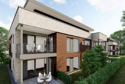 2-Zimmer-Neubauwohnung im I. Obergeschoss in zentrumsnaher Lage von Papenburg