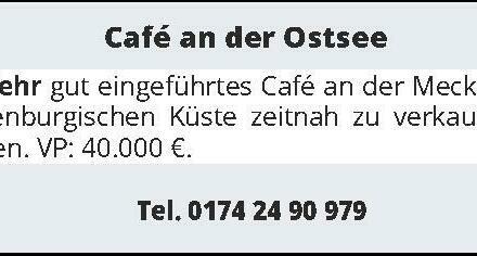 Café an der Ostsee