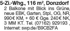 5 Zi. Whg. 116 m , Donzdorf