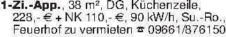 1-Zi.-App., 38 m², DG, Küchenz...