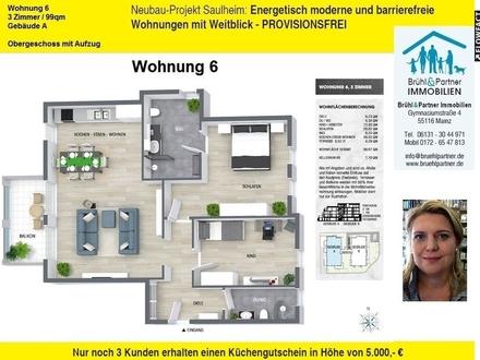 Saulheimer Talblick - KFW55 - 3 Zimmer, 99qm, Balkon und Aufzug
