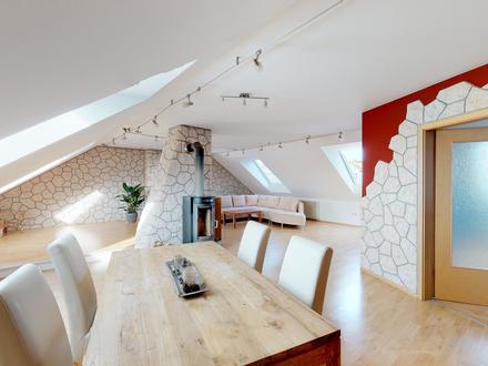 Großzügige, helle 5-Zimmer-DG-Wohnung im mediterranen Stil zu kaufen in Kriegshaber