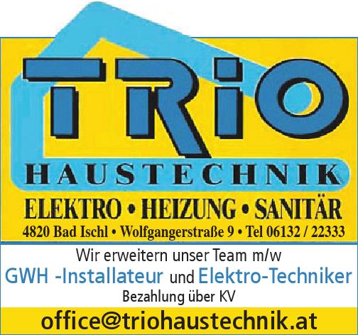 Wir erweitern unser Team m/w GWH -Installateur und Elektro-Techniker Bezahlung über KV
