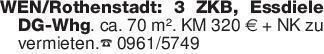 WEN/Rothenstadt: 3 ZKB, Essdie...