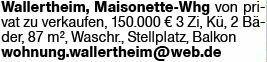 3-Zimmer Eigentumswohnung in Wallertheim (55578)