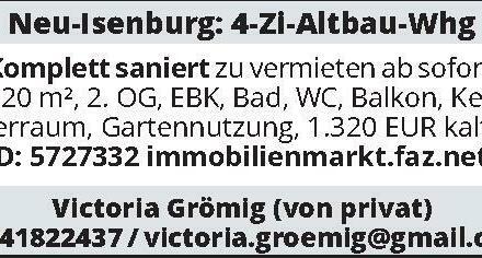 Neu-Isenburg: 4-Zi-Altbau-Whg
