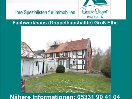 *** Für den Handwerker – Großes Grundstück mit Doppelhaushälfte