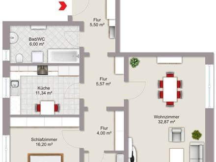großzügige 2-Zimmer-Eigentumswohnung
