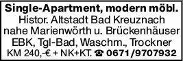 1-Zimmer Mietwohnung in Bad kreuznach (55543)
