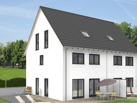 Schaafheim, neues massiv gemauertes Ausbauhaus mit Dacheindeckung und Baugrundstück!