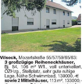 Vilseck, Mozartstraße 55/57/59...