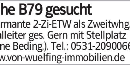 Charmante 2-Zi-ETW als Zweitwhg. von Filialleiter ges. Gern mit Stellplatz...