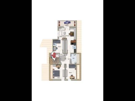 Großzügige 4-Zimmer-Dachgeschosswohnung mitten in Ernsbach