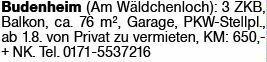 3-Zimmer Mietwohnung in Budenheim (55257)