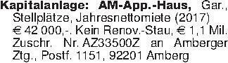 Kapitalanlage: AM-App.-Haus, G...