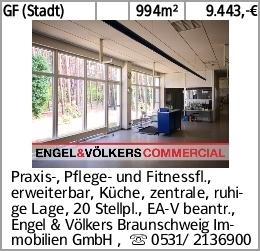 GF (Stadt) 994m² 9.443,-€ Praxis-, Pflege- und Fitnessfl., erweiterbar,...