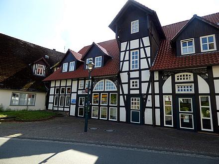Ladenlokal (ggf. in 2 Wohnungen umbaubar) im Zentrum von Lienen