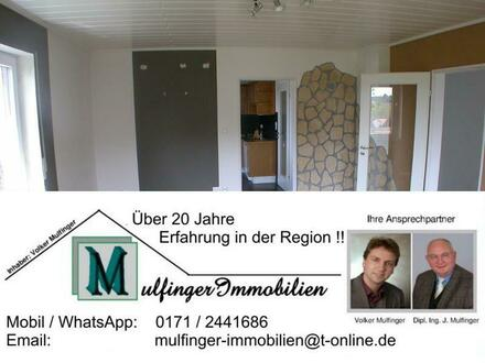3 Zi. Wohnung im 1. OG mit Gartenanteil (optional), Balkon und Garage