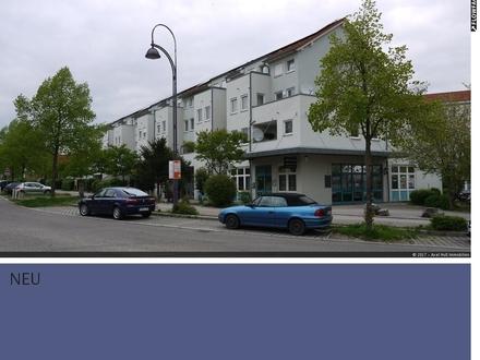 Gebäude Linden und Kornblumen