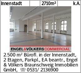 Innenstadt 2710m² k.A. 2.500 m² Bürofl. in der Innenstadt, 2 Etagen, Parkpl.,...