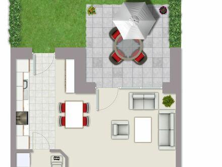 Stilvolle Wohneinheit im Erdgeschoss mit Garten zu verkaufen