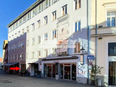 Ladenlokal in Rosenheims Altstadt.