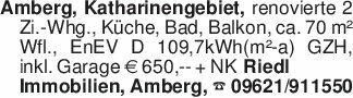 Amberg, Katharinengebiet, reno...