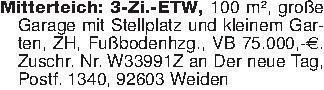 Mitterteich: 3-Zi.-ETW, 100 m²...