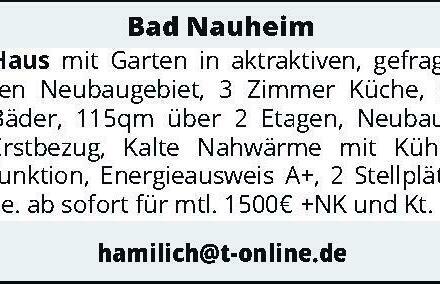 Bad Nauheim – Haus mit Garten