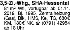 3,5 Zi-Whg., SHA-Hessental