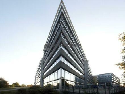 Repräsentative Architektur, moderne Büroflächenstandards und schnelle Wege