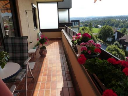 Großzügige 2-Zimmer-Wohnung mit Küche u. großem Balkon - tolle Aussicht über Passau Süd-West