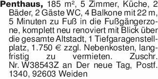 Penthaus, 185 m², 5 Zimmer, K...