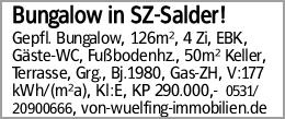 Bungalow in SZ-Salder!
