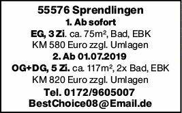 Mietwohnung in Sprendlingen (55576)