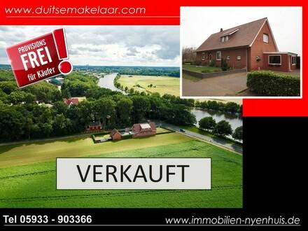 Einfamilienhaus in extravaganter Lage mit großem Grundstück ** Nähe der Ems ** auch für Tierhaltung geeignet ** einmalige…