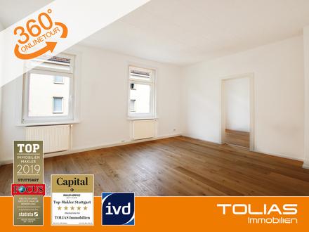 Genial gelegen - Urbanität zum Greifen nah! Attraktive 4-Zimmeraltbauwohnung mit verglaster Loggia