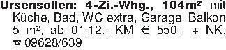 Ursensollen: 4-Zi.-Whg., 104m²...