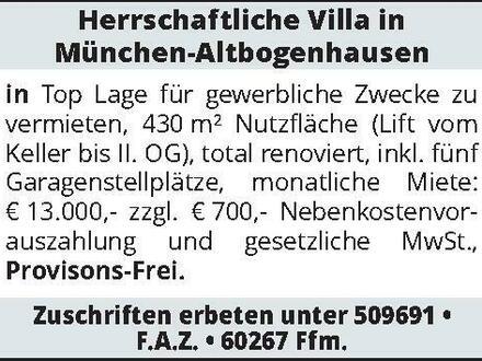 Herrschaftliche Villa in München-Altbogenhausen in Top Lage